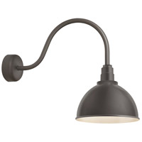 Deep Reflector 1 Light 16 inch Textured Bronze Wall Sconce Wall Light in 23in Arm, RLM Classics