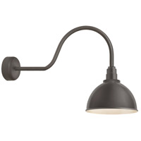 Troy RLM Lighting RD16MTBZ3LL30 Deep Reflector 1 Light 16 inch Textured Bronze Wall Sconce Wall Light in 30in Arm, RLM Classics
