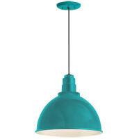 Deep Reflector 1 Light 16 inch Tahitian Teal Pendant Ceiling Light, RLM Classics
