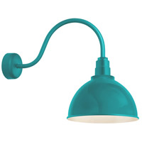 Troy RLM Lighting RD16MTTL3LL23 Deep Reflector 1 Light 16 inch Tahitian Teal Wall Sconce Wall Light in 23in Arm, RLM Classics