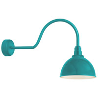 Deep Reflector 1 Light 16 inch Tahitian Teal Wall Sconce Wall Light in 30in Arm, RLM Classics