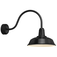 Troy RLM Lighting RH14MBK3LL23 Heavy Duty 1 Light 14 inch Black Wall Sconce Wall Light in 23in Arm, RLM Classics