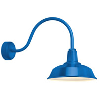 Heavy Duty 1 Light 14 inch Blue Wall Sconce Wall Light in 23in Arm, RLM Classics