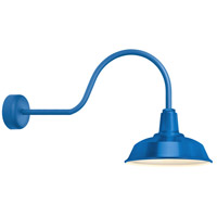 Heavy Duty 1 Light 14 inch Blue Wall Sconce Wall Light in 30in Arm, RLM Classics