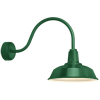 Heavy Duty 1 Light 14 inch Hunter Green Wall Sconce Wall Light in 30in Arm, RLM Classics