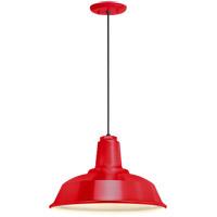 Troy RLM Lighting 5DRH14MRD-BC Heavy Duty 1 Light 14 inch Red Pendant Ceiling Light RLM Classics