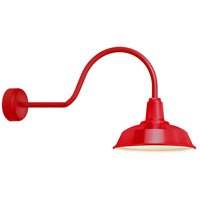 Heavy Duty 1 Light 14 inch Red Wall Sconce Wall Light in 30in Arm, RLM Classics