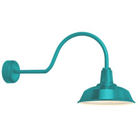 Troy RLM Lighting RH14MTTL3LL30 Heavy Duty 1 Light 14 inch Tahitian Teal Wall Sconce Wall Light in 30in Arm RLM Classics
