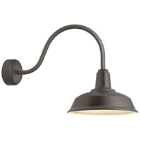 Troy RLM Lighting RH16MTBZ3LL23 Heavy Duty 1 Light 16 inch Textured Bronze Wall Sconce Wall Light in 23in Arm RLM Classics