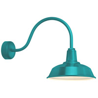 Heavy Duty 1 Light 16 inch Tahitian Teal Wall Sconce Wall Light in 23in Arm, RLM Classics