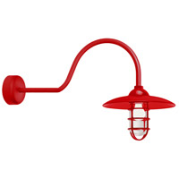 Troy RLM Lighting RID13MRD2LL30 Retro Industrial 1 Light 13 inch Red Wall Sconce Wall Light in 30in Arm Clear Glass RLM Classics