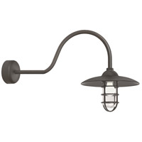 Troy RLM Lighting RID13MTBZ2LL30 Retro Industrial 1 Light 13 inch Textured Bronze Wall Sconce Wall Light in 30in Arm Clear Glass RLM Classics
