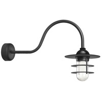 Troy RLM Lighting RRS10MBK2LL30 Retro Industrial 1 Light 10 inch Black Wall Sconce Wall Light in 30in Arm Clear Glass RLM Classics