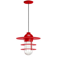 Troy RLM Lighting 5DRRS10MRD-BC Retro Industrial 1 Light 10 inch Red Pendant Ceiling Light Clear Glass RLM Classics