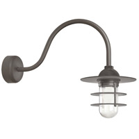 Troy RLM Lighting RRS10MTBZ2LL23 Retro Industrial 1 Light 10 inch Textured Bronze Wall Sconce Wall Light in 23in Arm, Clear Glass, RLM Classics