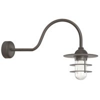 Troy RLM Lighting RRS10MTBZ2LL30 Retro Industrial 1 Light 10 inch Textured Bronze Wall Sconce Wall Light in 30in Arm Clear Glass RLM Classics