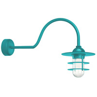 Tahitian Teal Retro Industrial Wall Sconces