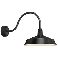Standard 1 Light 16 inch Black Wall Sconce Wall Light in 23in Arm, RLM Classics