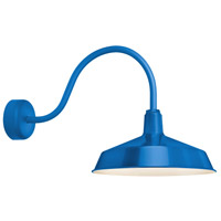 Standard 1 Light 16 inch Blue Wall Sconce Wall Light in 23in Arm, RLM Classics
