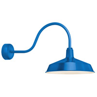 Troy RLM Lighting RS16MBLU3LL30 Standard 1 Light 16 inch Blue Wall Sconce Wall Light in 30in Arm, RLM Classics