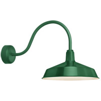 Troy RLM Lighting RS16MHG3LL23 Standard 1 Light 16 inch Hunter Green Wall Sconce Wall Light in 23in Arm, RLM Classics