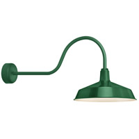 Troy RLM Lighting RS16MHG3LL30 Standard 1 Light 16 inch Hunter Green Wall Sconce Wall Light in 30in Arm, RLM Classics