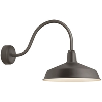 Troy RLM Lighting RS16MTBZ3LL23 Standard 1 Light 16 inch Textured Bronze Wall Sconce Wall Light in 23in Arm, RLM Classics