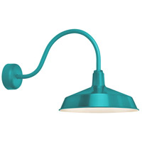 Standard 1 Light 16 inch Tahitian Teal Wall Sconce Wall Light in 23in Arm, RLM Classics