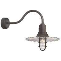 Troy RLM Lighting RW18MCGGTBZ3SL23 Radial Wave 1 Light 18 inch Textured Bronze Wall Sconce Wall Light in 23in Arm Clear Glass RLM Classics