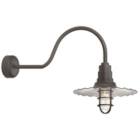 Troy RLM Lighting RW18MCGGTBZ3SL30 Radial Wave 1 Light 18 inch Textured Bronze Wall Sconce Wall Light in 30in Arm Clear Glass RLM Classics