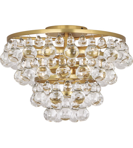 Robert Abbey 1002 Bling 2 Light 17 inch Antique Brass Flush Mount Ceiling Light