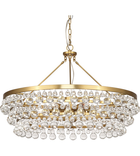 Robert Abbey 1004 Bling 6 Light 34 inch Antique Brass Chandelier Ceiling  Light - Robert Abbey 1004 Bling 6 Light 34 Inch Antique Brass Chandelier