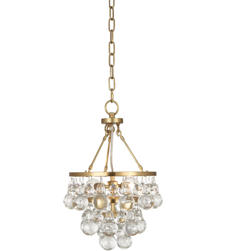 Robert Abbey 1006 Bling 2 Light 10 inch Antique Brass Chandelier Ceiling Light photo