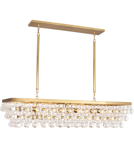 Robert Abbey 1008 Bling 8 Light 43 inch Antique Brass Chandelier Ceiling Light photo