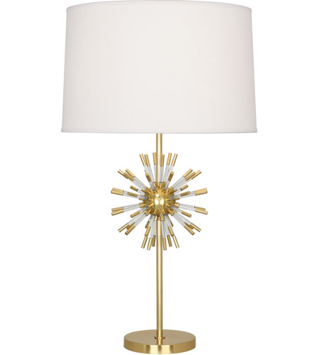 Robert Abbey 1201 Andromeda 28 inch 150 watt Modern Brass with Clear Acrylic Table Lamp Portable Light photo