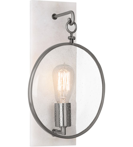 Robert Abbey 1418 Fineas 1 Light 9 inch Alabaster Stone with Dark Antique Nickel Wall Sconce Wall Light photo
