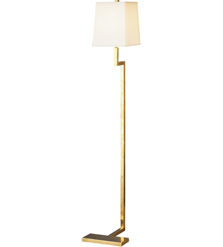 49 inch 100 watt natural brass floor lamp portable light photo. Black Bedroom Furniture Sets. Home Design Ideas