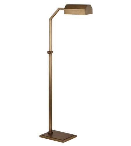 jackson 40 inch 100 watt aged brass floor lamp portable light photo. Black Bedroom Furniture Sets. Home Design Ideas