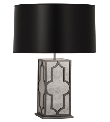 Robert Abbey 1540B Addison 28 inch 150 watt Patina Nickel Table Lamp Portable Light in Black Painted Opaque Parchment