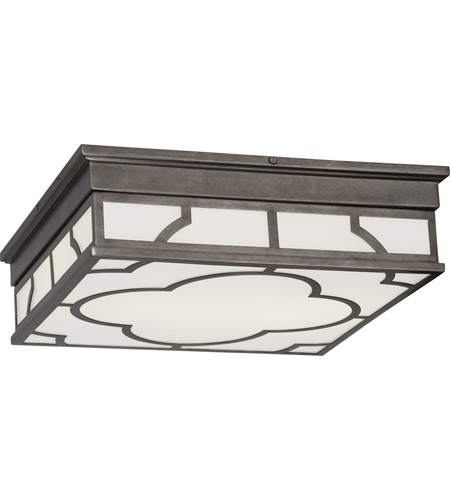Robert Abbey 1543 Addison 2 Light 16 inch Patina Nickel Flush Mount Ceiling Light