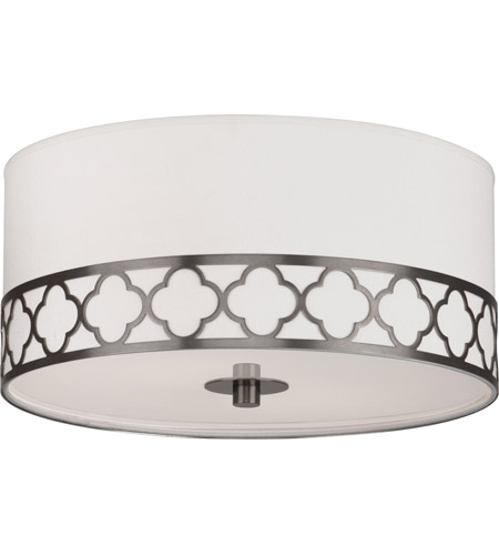 Robert Abbey 1545 Addison 2 Light 15 inch Patina Nickel Flushmount Ceiling Light photo