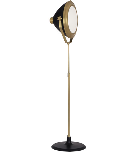 Robert Abbey 1566 Apollo 75 inch 150 watt Antique Brass with Matte Black Painted Floor Lamp Portable Light