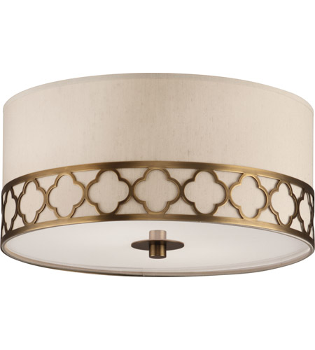 Robert Abbey 1575 Addison 2 Light 18 inch Weathered Brass Flushmount Ceiling Light photo