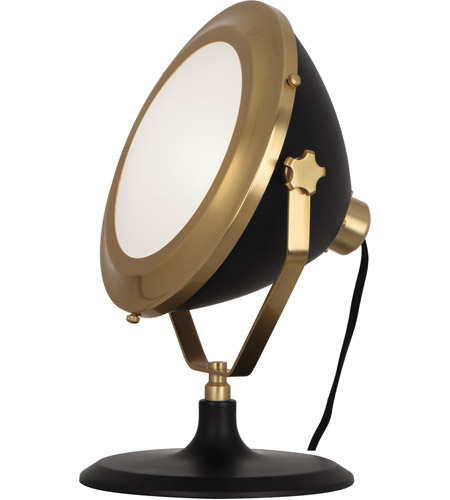 Robert Abbey 1580 Apollo 13 inch 60 watt Antique Brass with Matte Black Painted Table Lamp Portable Light