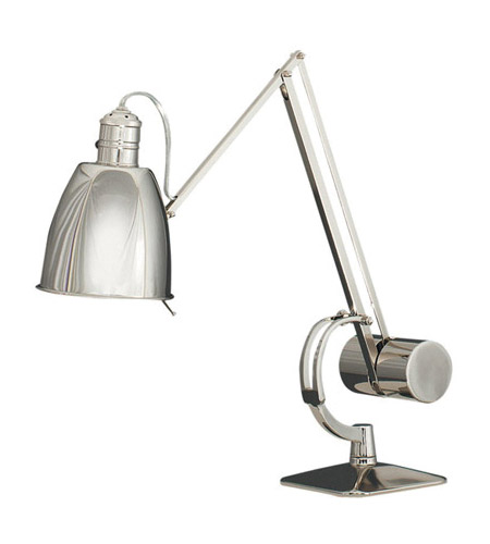 Robert Abbey 170 Dave 8 inch 60 watt Polished Nickel Table Lamp Portable Light