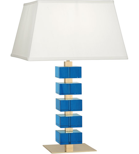 Robert Abbey 176 Jonathan Adler Monaco 26 inch 150 watt Lacquered Natural Brass with Turquoise Crystal Table Lamp Portable Light photo