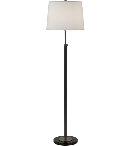 Robert Abbey 1842X Bruno 53 inch 150 watt Lead Bronze with Ebonized Nickel Floor Lamp Portable Light in Fondine