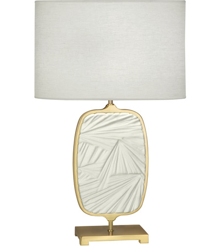 Robert Abbey 2011 Michael Berman Flynn 28 inch 100 watt Modern Brass and Flat Lily Table Lamp Portable Light photo