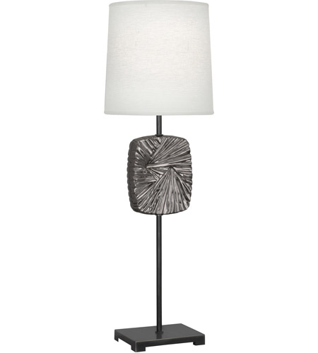 Robert Abbey 2052 Michael Berman Alberto 32 inch 100 watt Blackened Antique Silver with Deep Patina Bronze Table Lamp Portable Light photo thumbnail