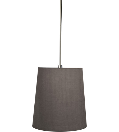 Robert Abbey 2055G Rico Espinet Buster 1 Light 15 inch Polished Nickel Pendant Ceiling Light in Smoke Gray photo